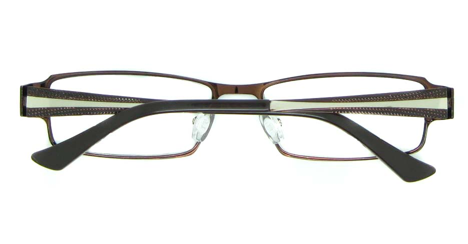 red with grey metal rectangular glasses frame JNY-KM8885-H
