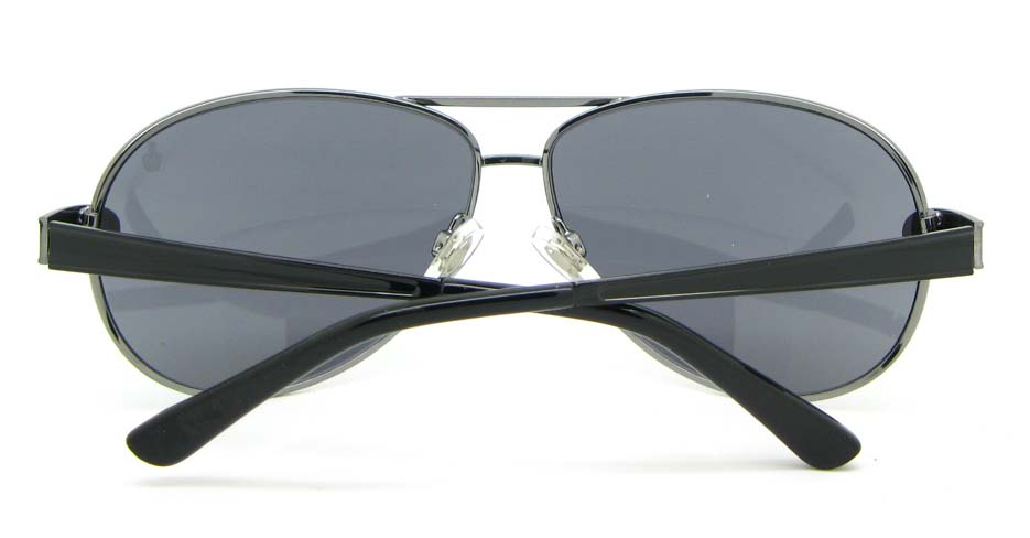 Aviator cost of polarized  sunglasses   fashion  Black Metal   XL050