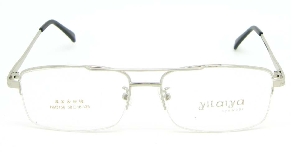Silver Rectangular  metal glasses frame WKY-HM3156-Y