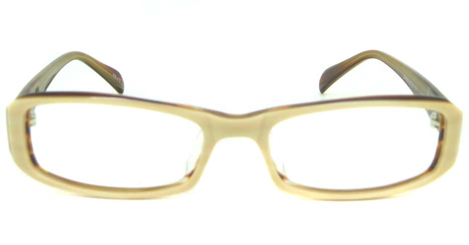 Khaki Acetate rectangular glasses frame YL-JB8100-C572