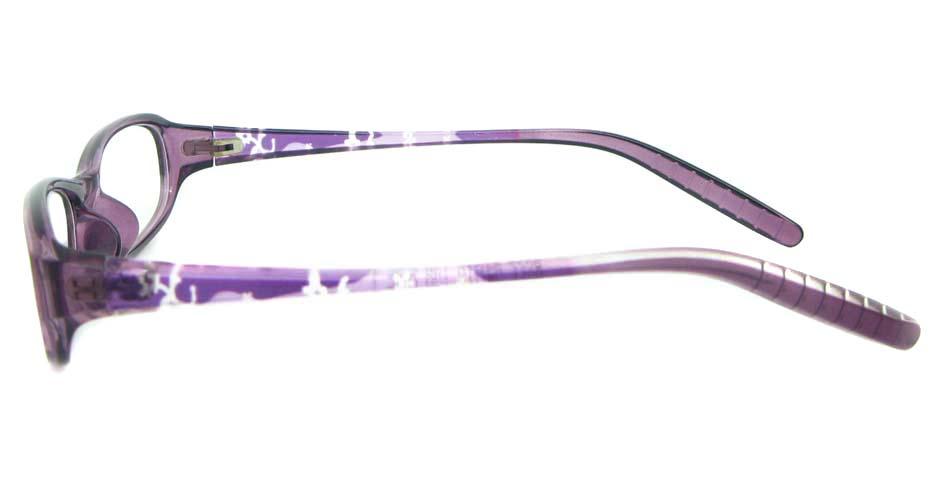purple tr90 rectangular glasses frame YL-KLD8022-C4