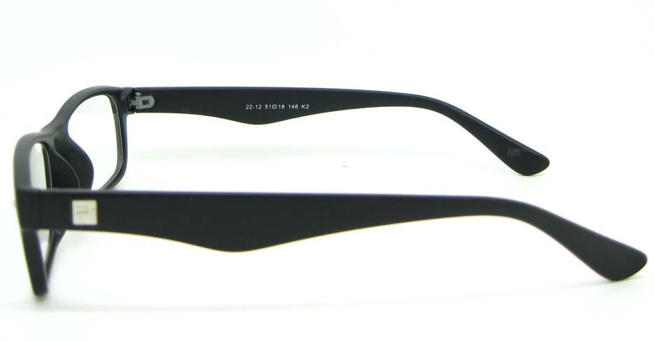 black retro plastic oval glasses frame WLH-2212-K2