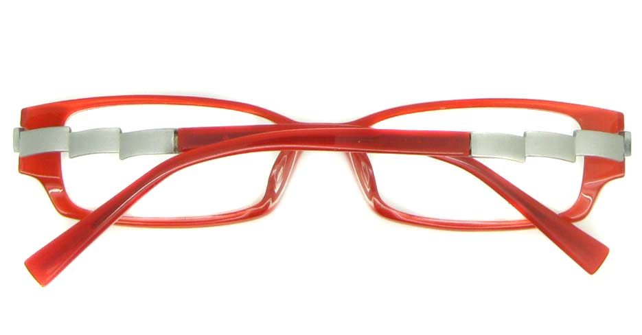 red with grey rectangular acetate glasses frame YL-JK9023-C449