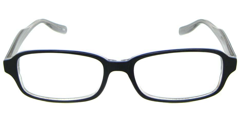 black Acetate rectangular glasses frame WKY-BL6169-C36