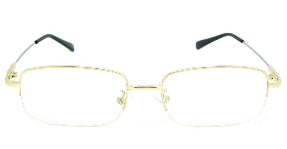 gold metal Rectangular  glasses frame WKY-ASR8111-J