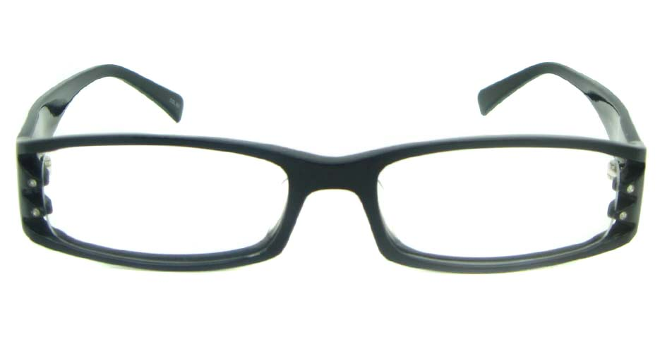 black with white plastic rectangular glasses frame YL-ZY1859-C001