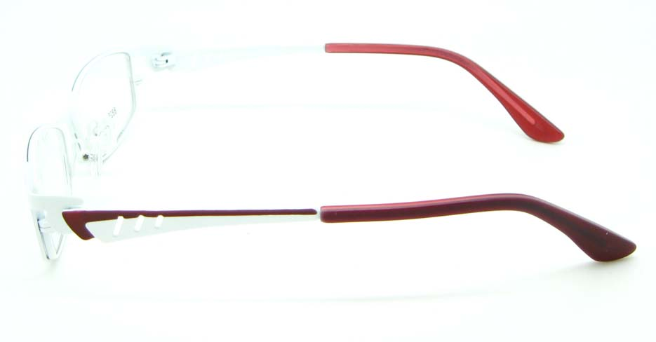 red with white metal oval glasses frame  JNY-KM8825-BS