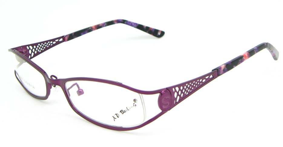 purple metal oval glasses frame WKY-XDBL508-Z