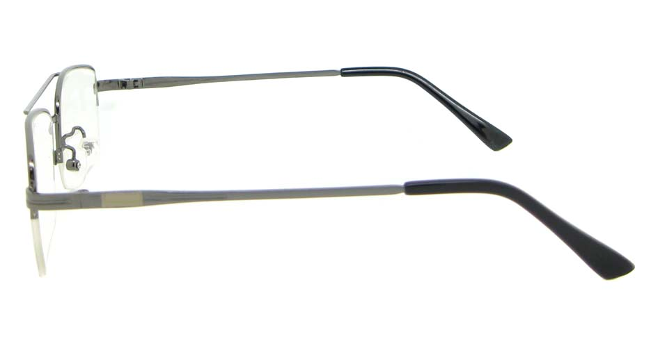 grey Rectangular  metal glasses frame WKY-HM3156-Q