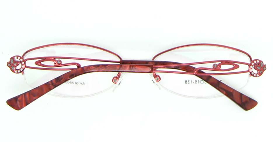 red oval metal glasses frame JNY-SSYZ2149-H