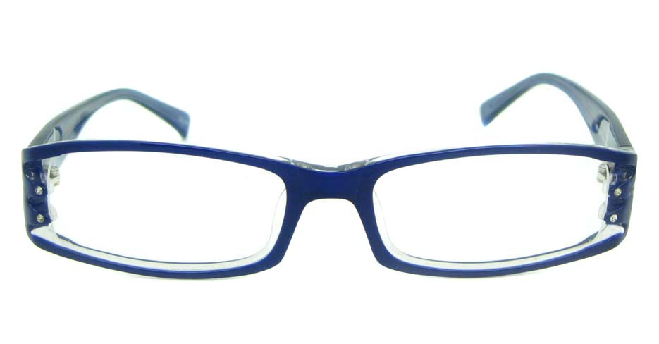 blue plastic rectangular glasses frame YL-ZY1859-C296