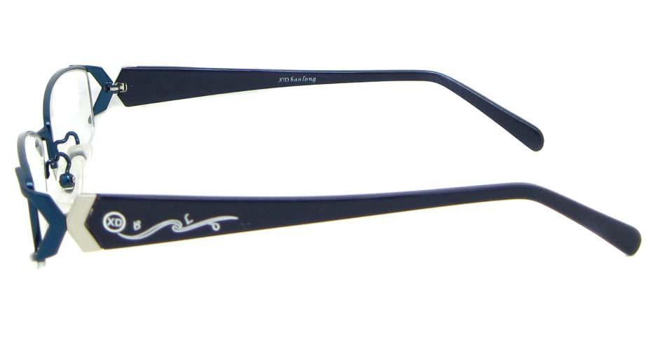 black with blue blend rectangular glasses frame WKY-XDBL6867-L