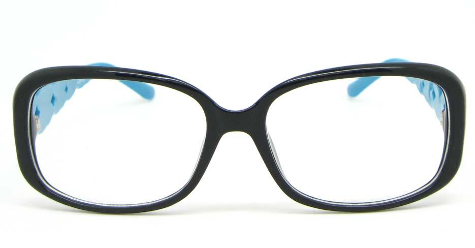 black with blue plastic over  glasses frame WLH-7105-C8