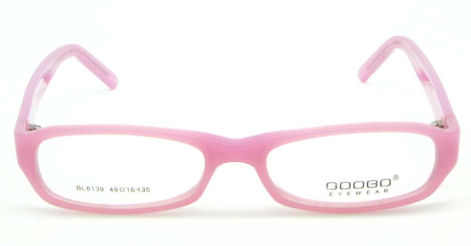 Kids pink rectangle plastic glasses frame JNY-BL6139-C114