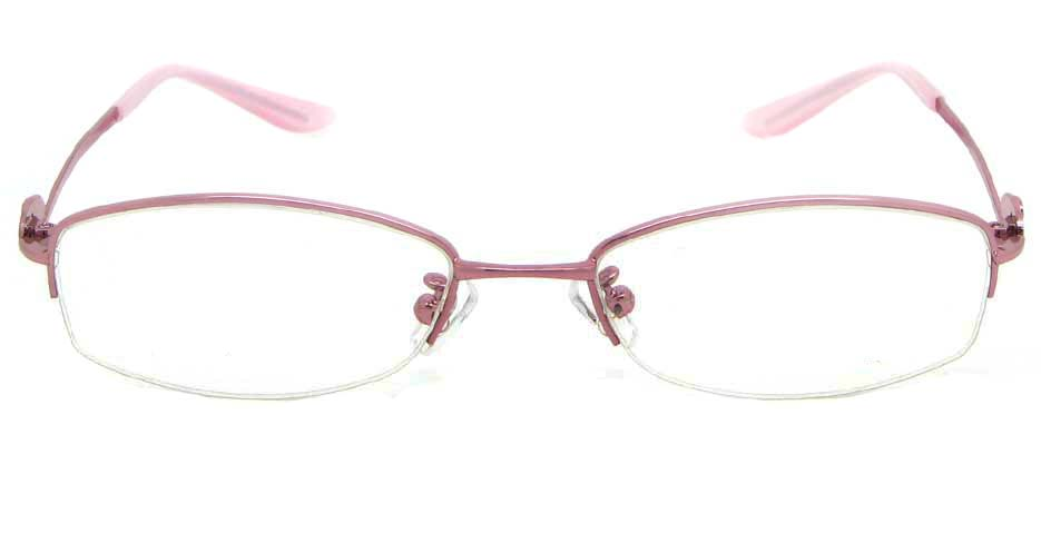 pink metal oval glasses frame WKY-KM5515-F