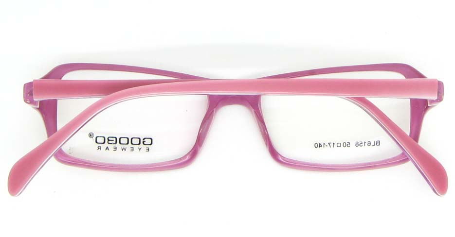 pink Acetate Rectangular glasses frame WKY-BL6158-C137