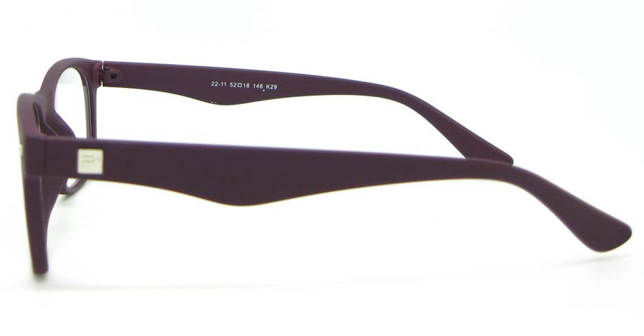 brown Wayfarer plastic glasses frame WLH-2211-K29