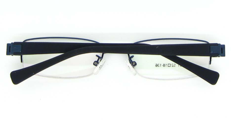 Black with blue blend rectangular glasses frame WKY-KSD6231-L