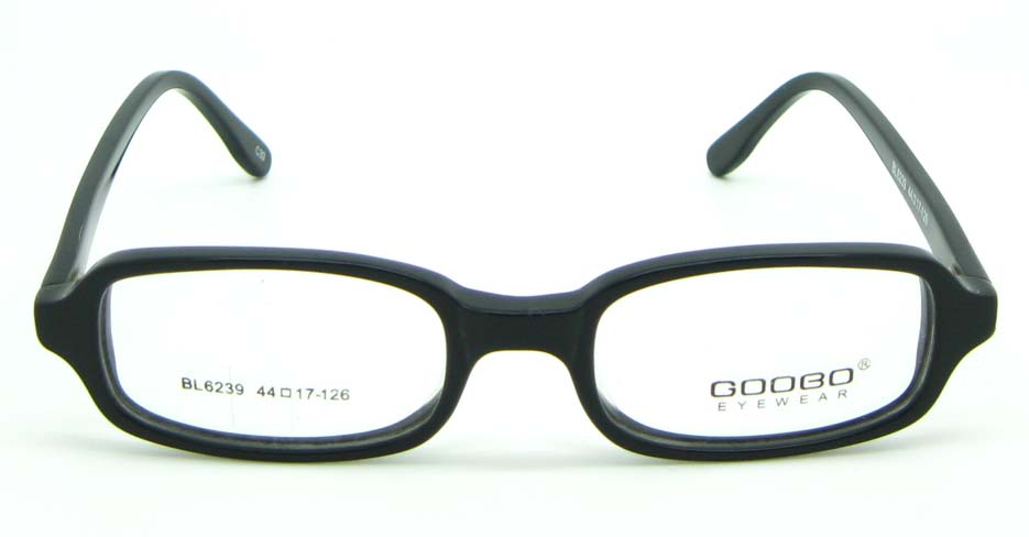 black plastic rectangular glasses frame JNY-BL6239-C33