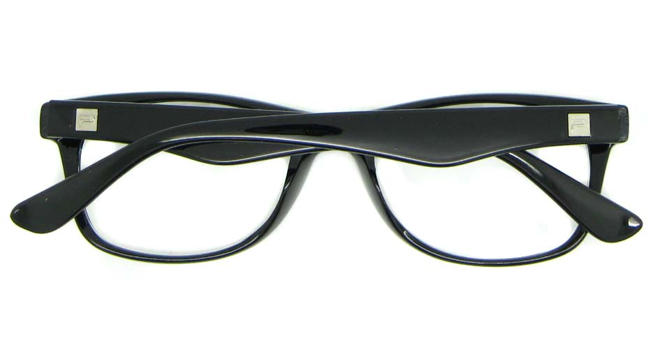 black plastic oval glasses frame WLH-2211-K