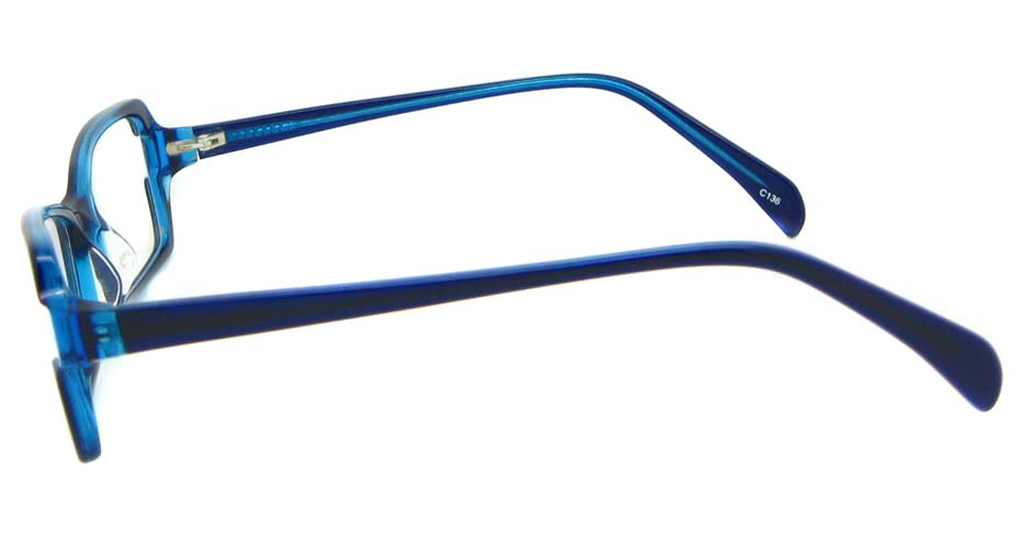 black with blue Acetate Rectangular glasses frame YL-KLD8017-C6