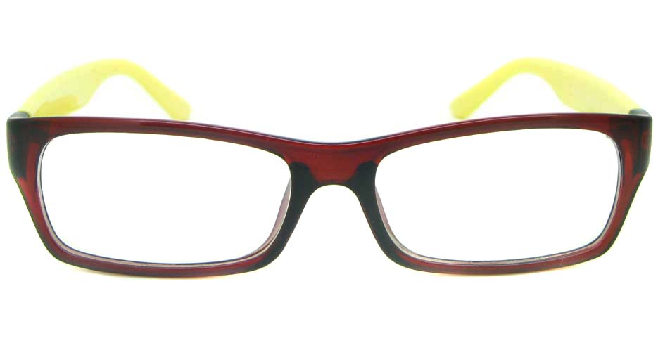 wine with yellow Rectangular tr90 glasses frame YL-KDL8049-C5