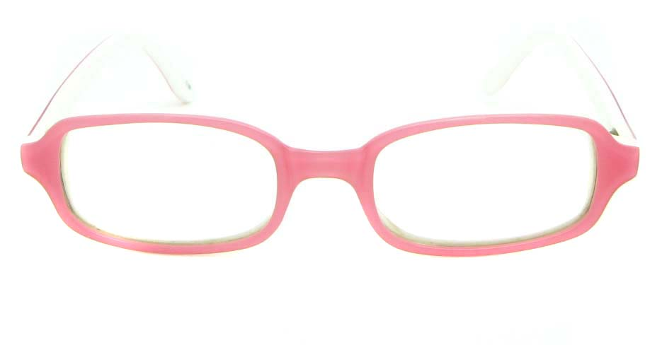 pink plastic rectangular glasses frame JNY-BL6239-C181