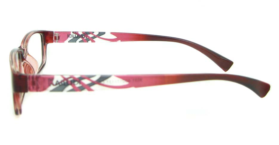 Burgundy tr90 Rectangular glasses frame YL-KDL8031-C5