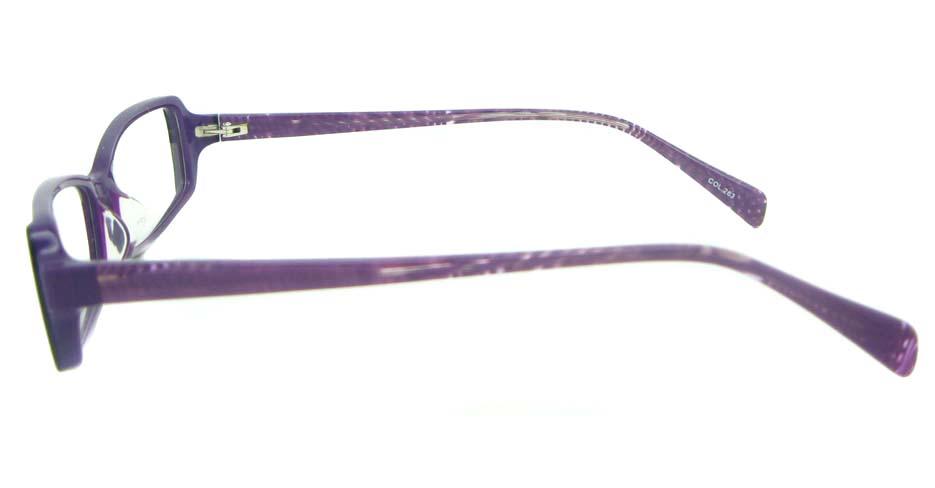 Purple Rectangular Acetate glasses frame YL-JB8180-C263