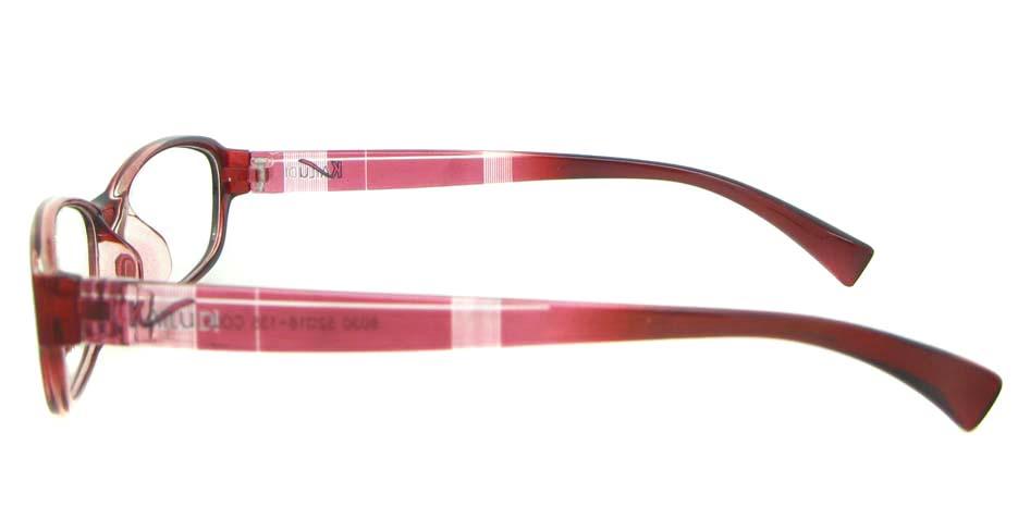 red oval tr90 glasses frame YL-KDL8030-C5