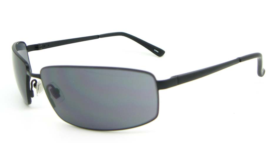 Black Metal Rectangle sunglasses XL058