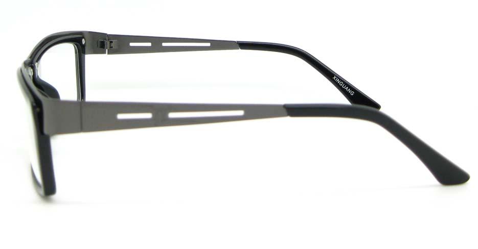 grey with black blend rectangular glasses frame WLH-SH511-C1