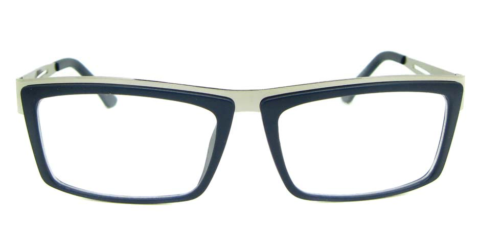 Silver blend rectangular glasses frame  WLH-SH511-C8