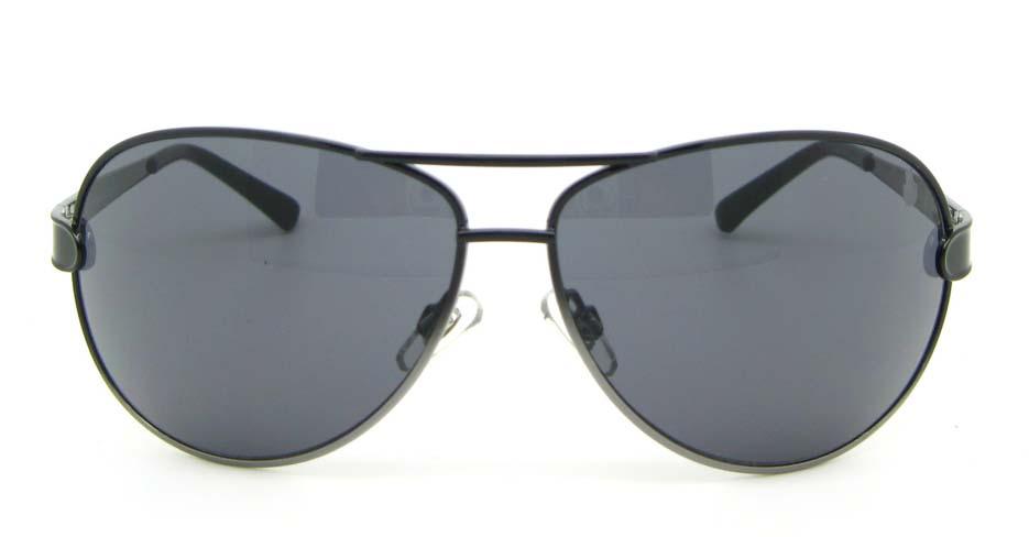 Aviator cost of polarized  sunglasses   fashion  Black Metal   XL050