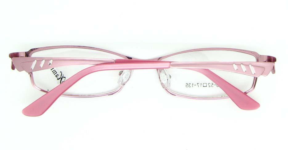 pink metal oval glasses frame  JNY-KM8825-F