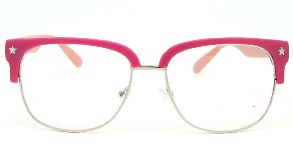 pink retro blend  glasses frame WLH-OF1831-C9