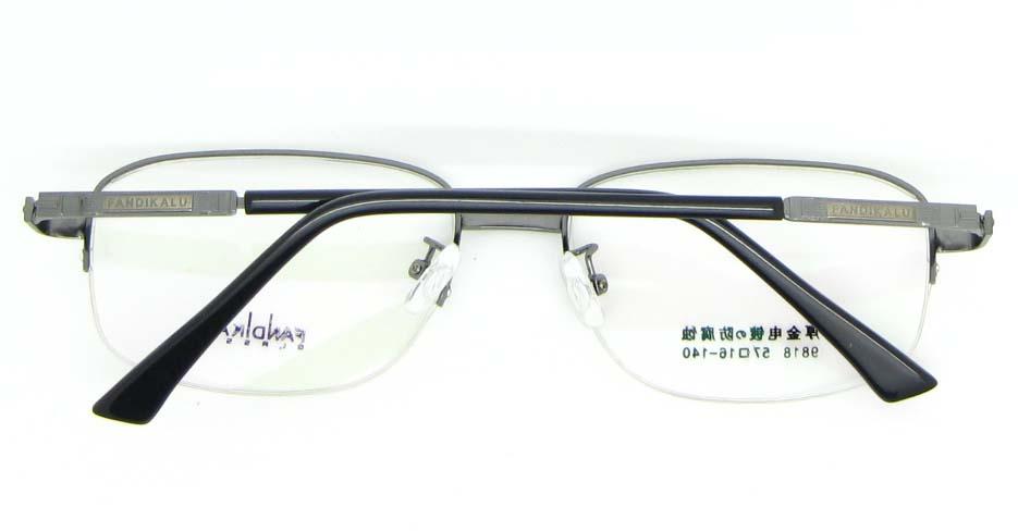 Gun Rectangular metal glasses frame WKY-FKL9818-Q