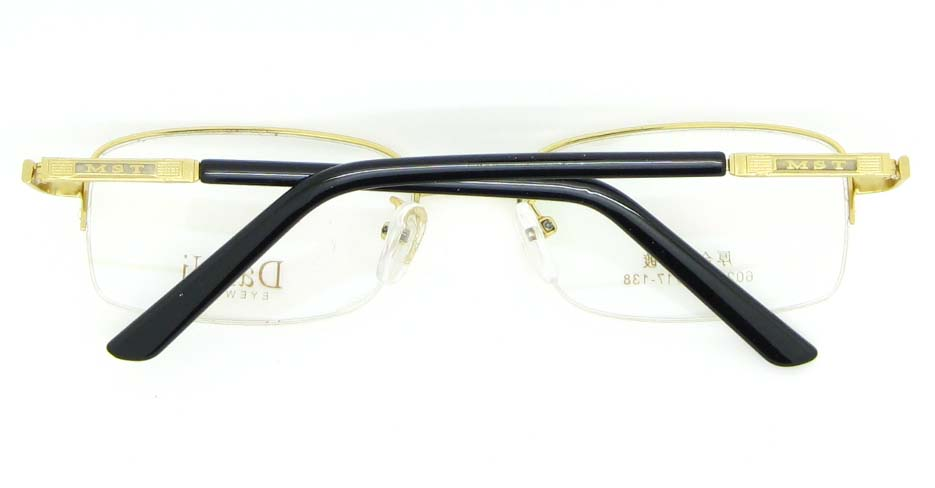 gold metal Rectangular glasses frame WKY-DNI6026-J