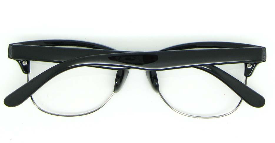 oval black blend glasses frame  WLH-0026-C1