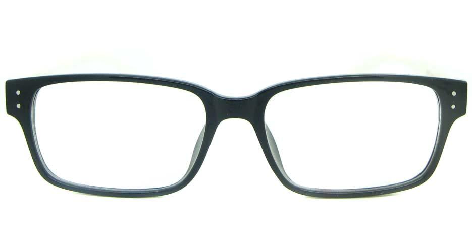 black with white Rectangular tr90 glasses frame YL-KDL8036-C4