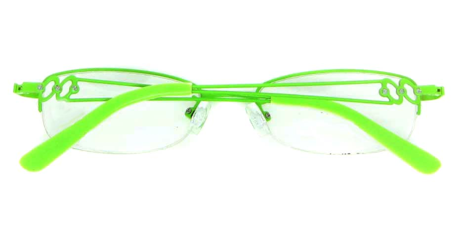 green oval metal glasses frame WKY-KM5528-LS