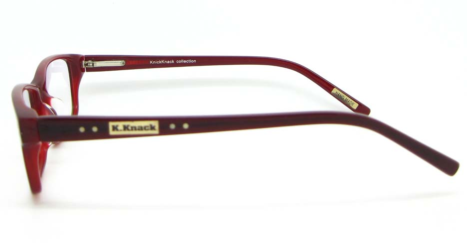 wine with brown Acetate Rectangular glasses frame WKY-K1015-H