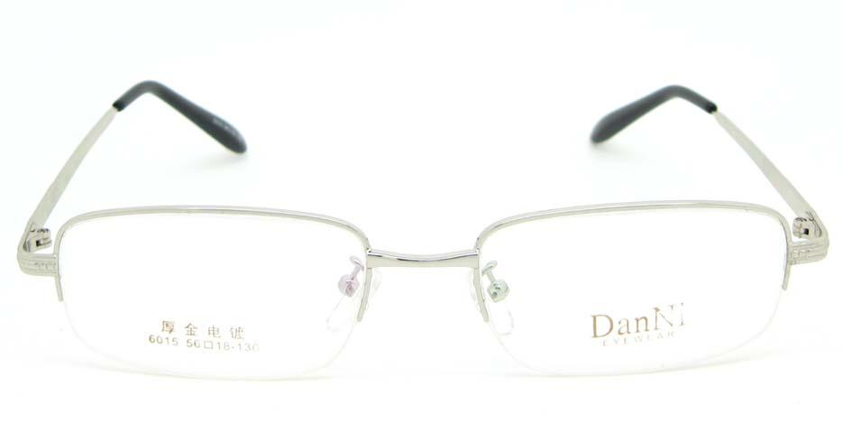 silver metal rectangular glasses frame WKY-DNI6015-Y
