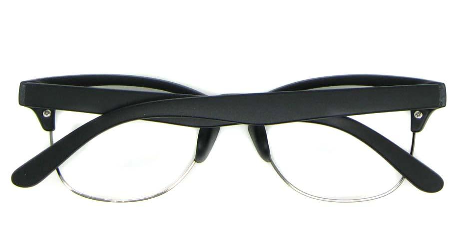 retro oval black blend glasses frame WLH-0026-C2