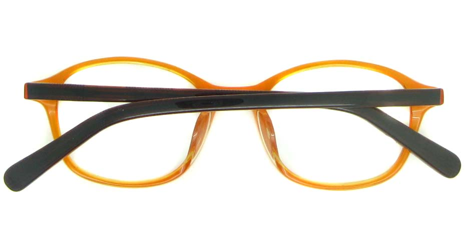 orange with brown round plastic glasses frame YL-JB8350-C681