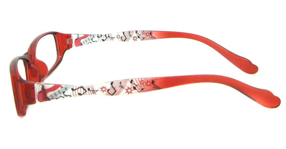 red oval tr90 glasses frame YL-KLD8024-C5