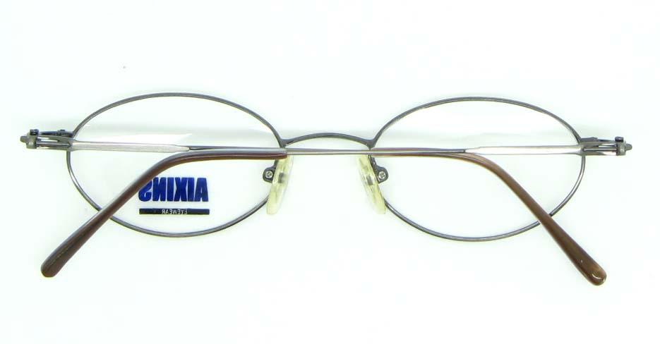 silver metal oval glasses frame JNY-AO2347-Q