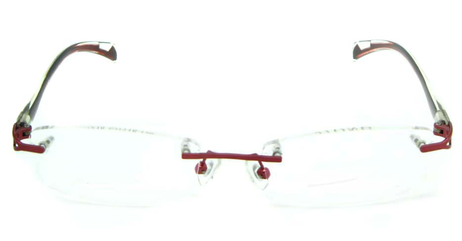 red rimless Rectangular blend glasses frame HL-DEB0001-HL