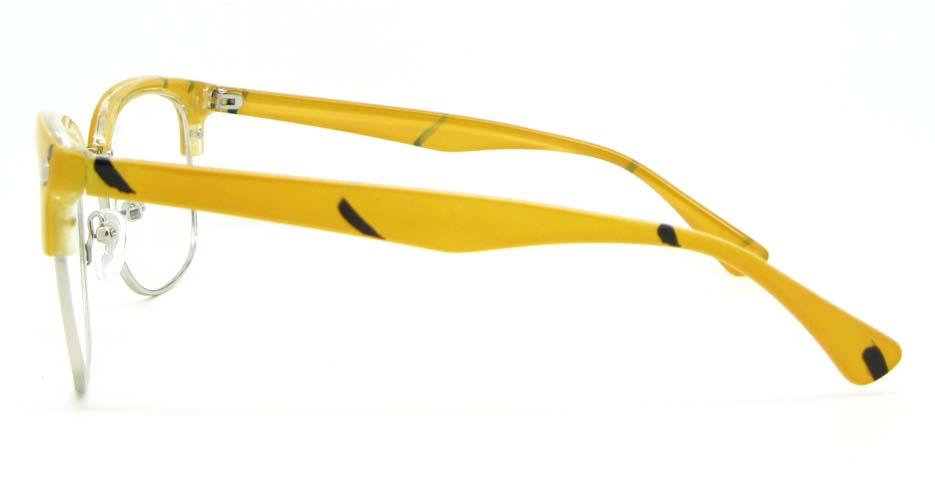 blend retro yellow glasses half frame WLH-QS010-C5