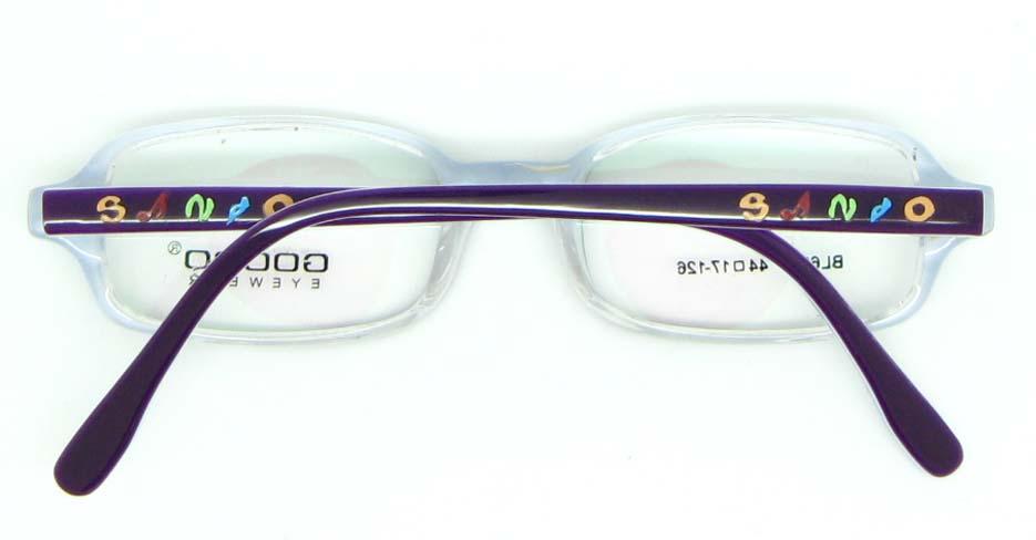 purple plastic rectangular glasses frame JNY-BL6239-C175